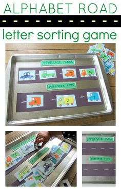 Alphabet road letter sorting game. This looks really fun to me! #parenting #learninghelp #readinghelp