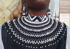 Items similar to Shoulder Necklace/Blue Maasai Necklace/Zulu Necklace/maasai Necklace/Multicolored South African Necklace-African/ Tanzanian Necklace on Etsy African Beads Necklace, African Jewelry, Tribal Necklace, Beaded Necklaces, Zulu, Afro, White Statement Necklaces, Hollywood Fashion, Hollywood Style