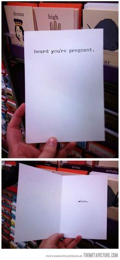 'You're expecting' greeting card…  wow!  this is hilarious! Where do I find this!?