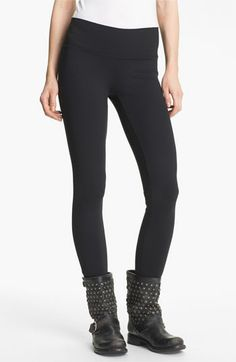 Best maternity leggings! But they're not maternity :) BP. Wide Waistband Essential Leggings (Juniors) available at #Nordstrom