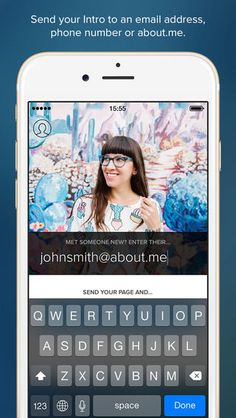 Intro, the New About.me App, Wants to Replace Paper Business Cards #email trendhunter.com