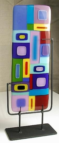 Vertical Freestanding Sculpture by Barbara Galazzo: Art Glass Sculpture available at www.artfulhome.com