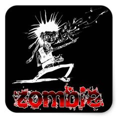 #funny - #Steampunk Halloween Zombie Square Sticker