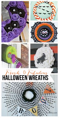 Fresh and Fabulous Halloween Wreath Ideas - 20 easy to follow tutorials  | landeelu.com