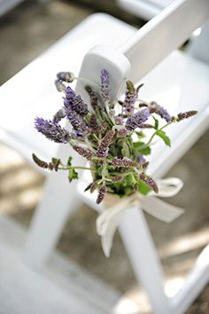 lavender wedding flowers A Rustic Purple Wedding with Burlap Touches