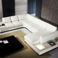 Tienda de muebles de diseño en Zacatecas México . Sala minimalista que puede ser fabricada al color que el cliente requiera. Modern Living room IN-CLASS Mueblerías Furniture Store