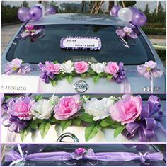 Groupe de décorations de voiture de mariage (PZS042) - Vowstory