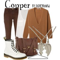 """Copper"" by lalakay on Polyvore #disney"