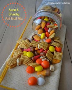 Sweet & Crunchy Fall Trail Mix - throw this together in just a few minutes.