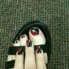 Red Black w/silver sparkles!