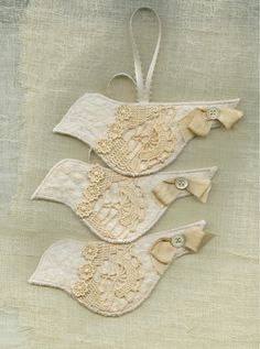 Hey, I found this really awesome Etsy listing at http://www.etsy.com/listing/154082560/lace-birds-set-of-three-shabby-chic