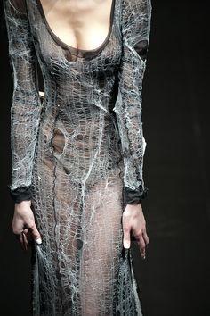 Open knit #spiderweb #ladder #destroyed