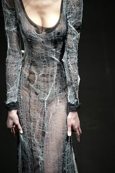 Alice Auaa | A/W 2013-14 I like this, buy it also kinda looks like she walked through a spiderweb.