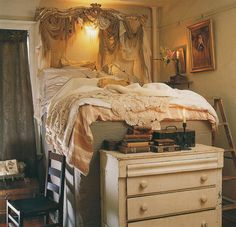 Terrific Uniquenees Of Gypsy Bedroom Decor For Home: Exciting Gypsy Bedroom Decor With Bed Level Comforter Pillow Drapes Chest Drawer Picture Candle Side Chair Ladder For Gypsy Themed Bedroom And Gypsy Style Bedroom Decor. ~ serpih.com Bedroom Inspiration