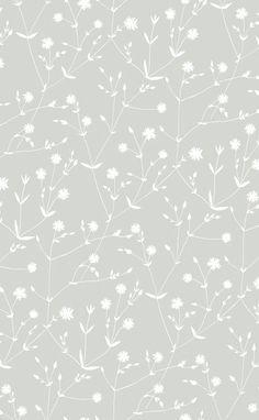 Marimekko Marimekko  Illalla Wallpaper Cloud Grey/Cream - KIITOSlife - 1