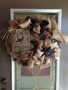 Country/Primitive Burlap Black Crow DecoMesh by CountryDecoMesh, $89.00