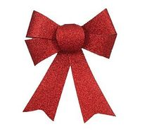 Tie up all your holiday decorating ends with our Red Glitter Bows! Our Red Glitter Bows feature a double knot bow covered in red glitter. Our Red Glitter Bows are perfect for decorating your home for this holiday season! Our Red Glitter Bows come in a package of 3 bows each 3 1/2in long.
