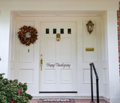 Christmas Decor Merry Christmas Front Door Decal by LucyLews Monogram Door Decor, Christmas Front Doors, Christmas Door, Merry Christmas, Name Wall Decals, White Doors, Brick, Christmas Decorations, Christmas Ideas