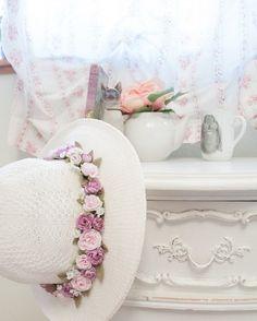 Imagem de vintage, flowers, and hat