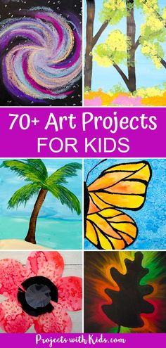 The ultimate collection of art projects for kids! Art projects using fun and easy techniques with chalk pastels, watercolors, acrylic paint and more that kids will love. Awesome ideas for seasonal art, holiday crafts and projects for any time of the year! Art Education Projects, Kindergarten Art Projects, Art Therapy Projects, Education Journals, Summer Art Projects, Diy Projects For Kids, Easy Kids Art Projects, Summer Arts And Crafts, Clay Projects
