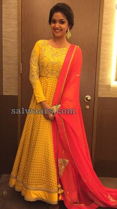 Keerthi Suresh Yellow Salwar - Indian Dresses