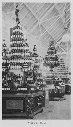 Italian wine display - ೋ Ʈɧє Ꮗɧἰʈє ƈἰʈƴ ೋ Chicago City, Chicago Illinois, World's Columbian Exposition, Agricultural Buildings, Wine Display, Fair Games, Old Images, White City, Italian Wine