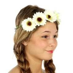 wholesale N34 Daisy headband White Wholesale Hair Accessories, Wholesale Scarves, Buying Wholesale, Daisy Headband, White Headband, Yoga Wear, How To Wear, Fashion, Moda