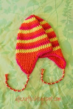 933d2978722f8 Alli Crafts  Free Pattern  Earflap Hat - Youth Adult Small