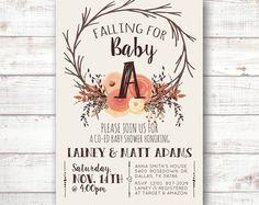 So adorable! Unique Woodland Fall Baby Shower Invite Invitation Printable Boho…