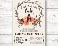 So adorable! Unique Woodland Fall Baby Shower Invite Invitation Printable Boho Chic by 21Willow