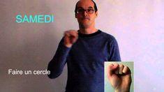 Les jours de la semaine en langue des signes française