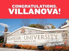 YES!! Congratulations, Villanova Basketball Wildcats, on your NCAA National Championship win! Usa University, Villanova University, University Programs, Accelerated Bsn Programs, Visit Philly, Philadelphia Sports, National Championship, Confidence Building, School Fun
