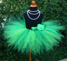 Green Tutu - Spring Meadow - Custom Sewn 11'' Pixie Tutu- sizes newborn up to 5T - St. Patrick's Day Tutu - Girls Tutu - Baby Tutu