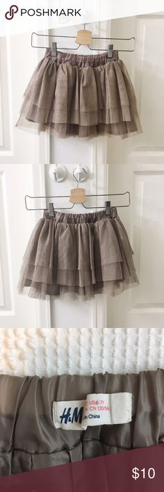 Girl's Ballerina Skirt in Cocoa 🍑 Size 6-7 🍑 Color: Cocoa / Soft Brown 🍑 Like New 🍑 by H&M   ✨ Price is FIRM unless bundled  ✨ All items from a smoke free home  ✨ Please ask questions prior to purchase H&M Bottoms Skirts