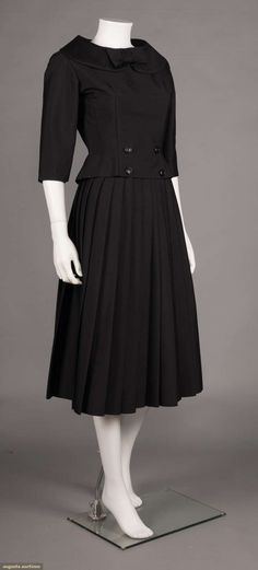 Day dress, wool, Leonard label, French, 1960s