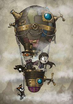 Image Adorkable Airship/Balloon in Steampunk Style album Chat Steampunk, Steampunk Kunst, Steampunk Drawing, Steampunk Artwork, Steampunk Airship, Steampunk Theme, Steampunk Design, Steampunk Wedding, Steampunk Fashion