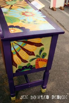 Beautiful hand painted dresser