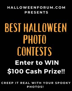 FIVE different chances to win a $100 gift card - decorations, costume, PET costume, COUPLES costume and PARTY theme - register on our site and post your photo entry in each category - or just pick your favorite!