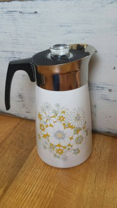 Fishing heavy Duty Pewter Coffee Pot Hunting Hot Water Warmer Ice Water Pitcher Camping Vintage Home Kitchen Decor