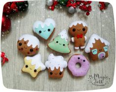 Christmas ornaments felt Gingerbread House by MyMagicFelt on Etsy