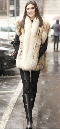 I already have the coat that i will be making into a vest.. Winter look,