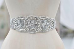 Crystal Wedding Sash Wedding Sash Bridal by AshleighMalangoneNY