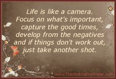 The Motivation Hotel: Life Is A Camera