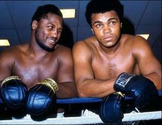 Muhammad Ali and George Frazier Muhammad Ali, American Boxer, Smokin Joes, Joseph Williams, Boxing Champions, George Foreman, This Is Your Life, Celebrity Gallery, Sports Figures
