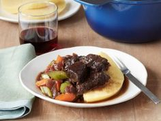 Cooking Channel serves up this Tuscan Beef Stew with Polenta recipe from Debi Mazar and Gabriele Corcos plus many other recipes at CookingChannelTV.com