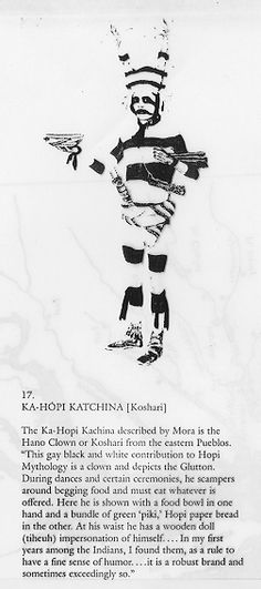 Koshari [sacred clown] katchina.