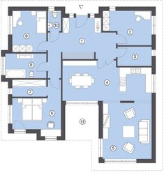 Hommage Bungalow 130 | Hanlo Häuser Bungalows, Sims Building, House Floor Plans, My House, Architecture Design, Villa, Home And Garden, House Design, Flooring