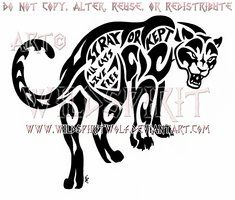 All Cats Live Free - Tribal Panther Design by WildSpiritWolf