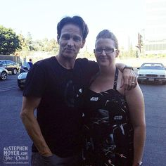 Stephen Moyer with fan after rehearsals for Chicago at the Hollywood Bowl