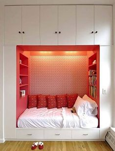 Small bedroom ideas... Built In Bed..